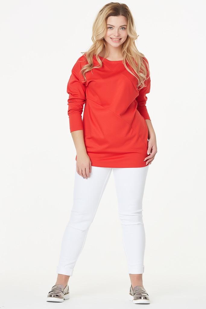 Классическая удлиненная трикотажная блуза