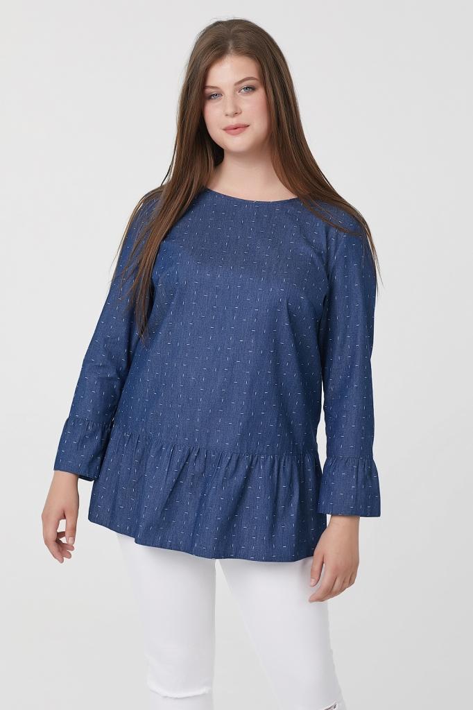 Стильная женская блузка с воланами