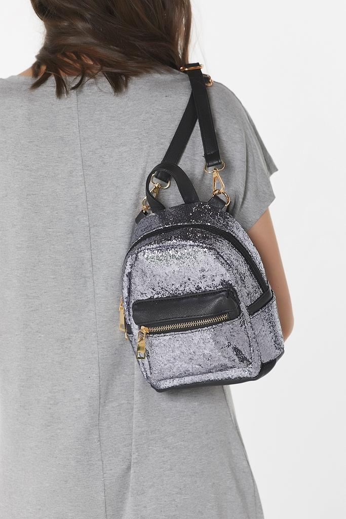 Рюкзак из экокожи с блестками