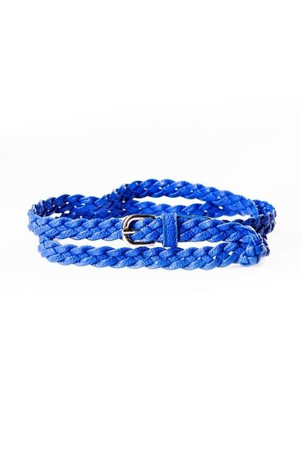 Синий плетеный ремень