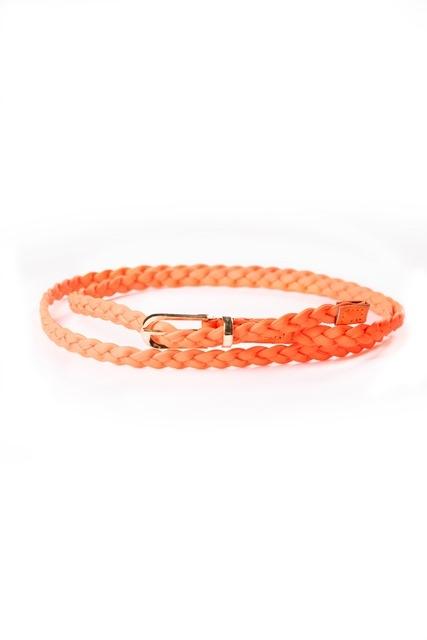 Оранжевый плетеный ремень