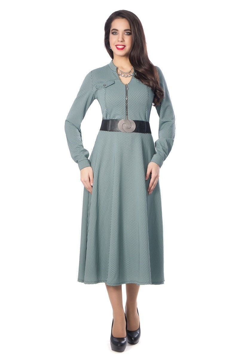 Восхитительное платье полуприлегающего силуэта