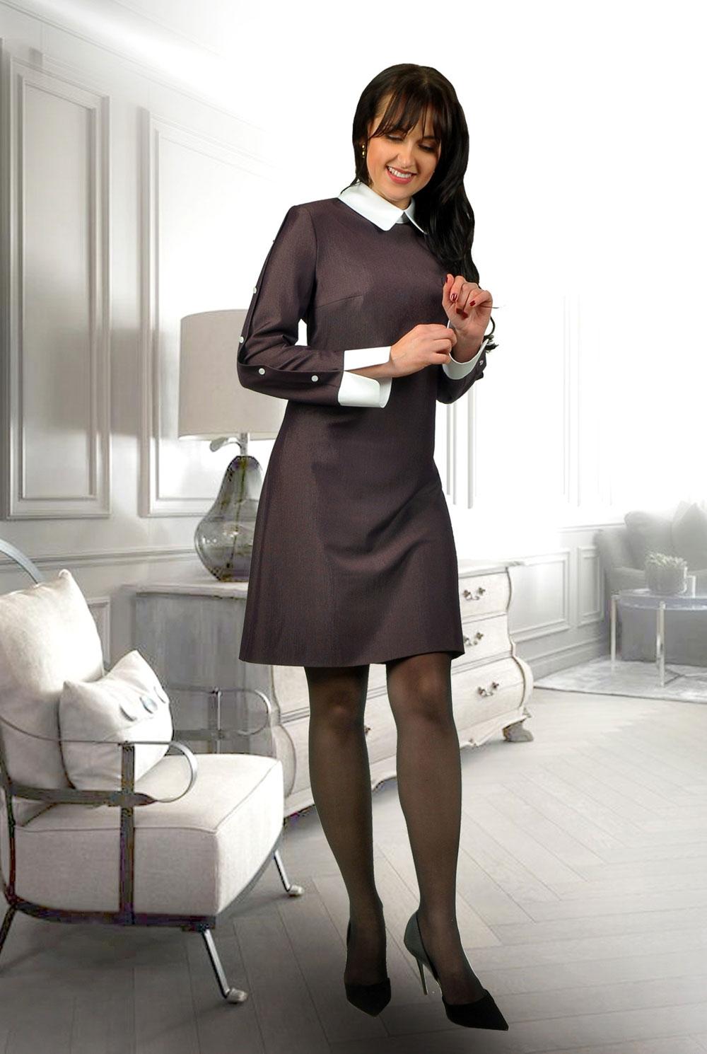 Стильное платье в офисном стиле