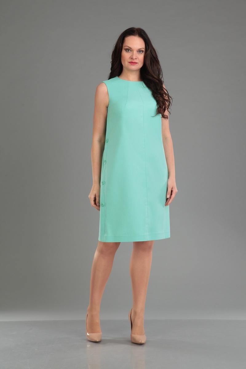 Нарядное летнее платье прямого силуэта