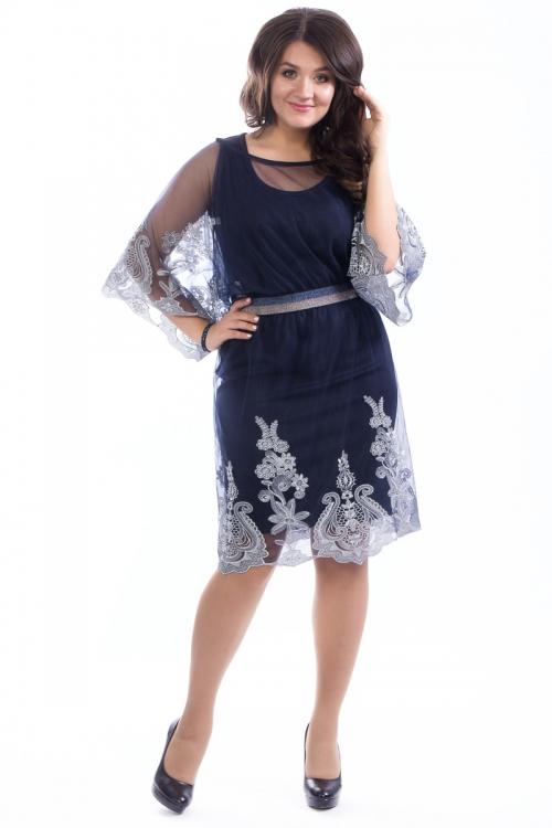 Платье с накидкой ВА-П4-3900/0-3 от DressyShop