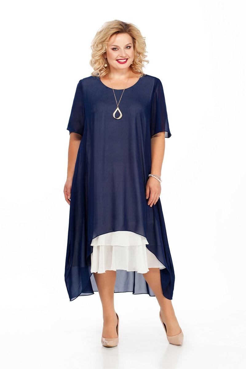 Шикарное просторное платье из шифона на подкладке с рукавом до локтя