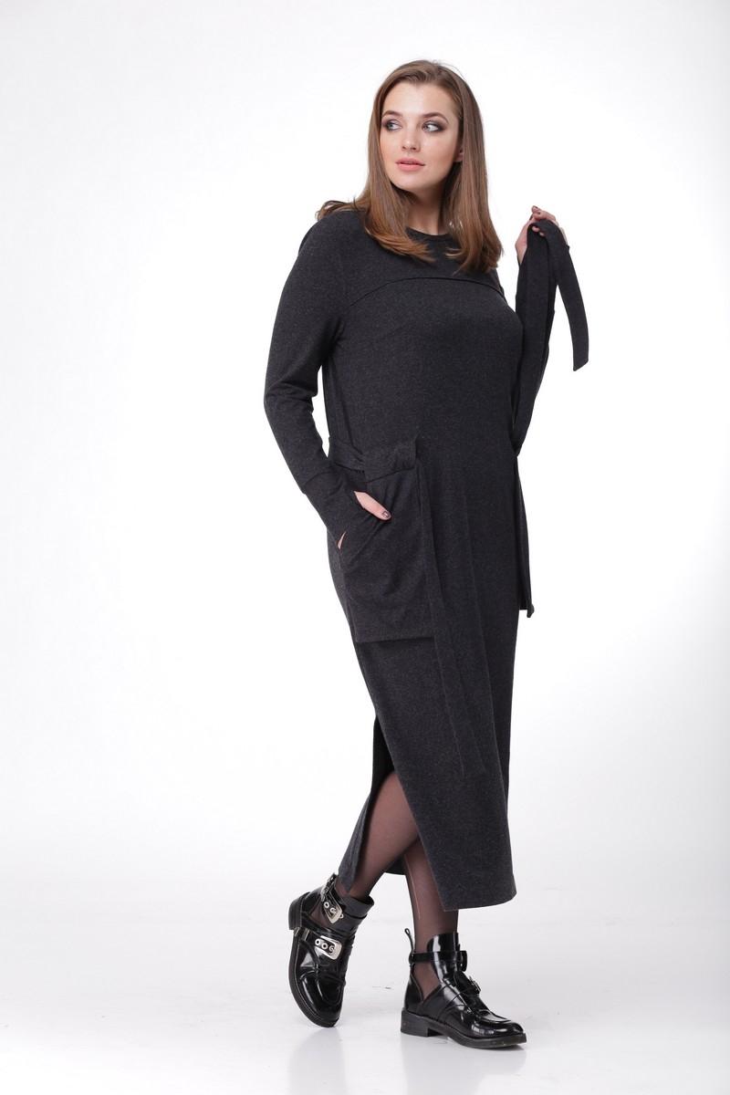 Длинное платье из мягкого трикотажа
