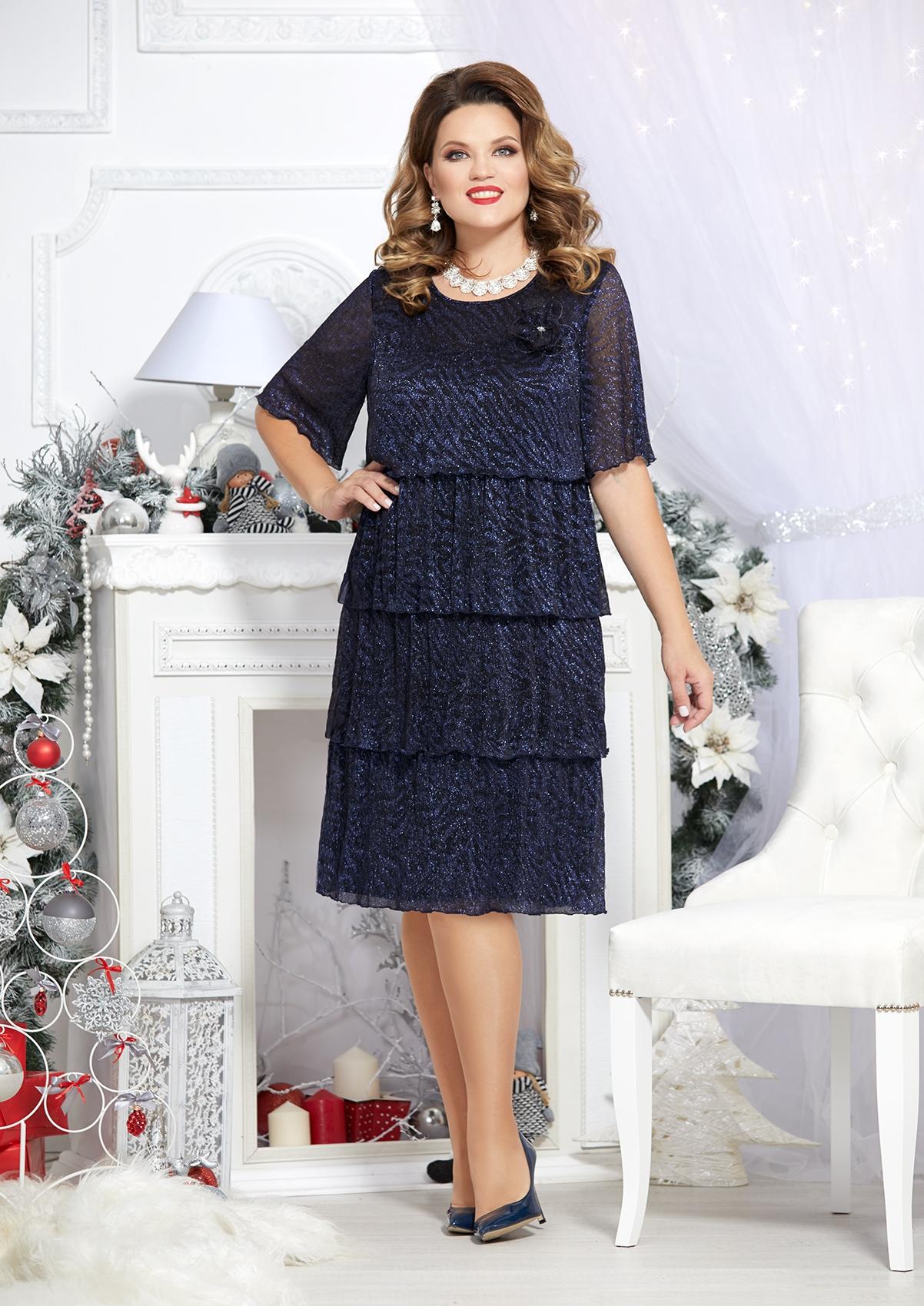 Нарядное платье из плиссированной ткани