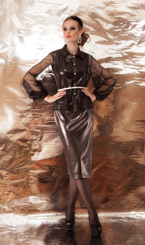 Платье с блузой ДИВА-1081 от DressyShop