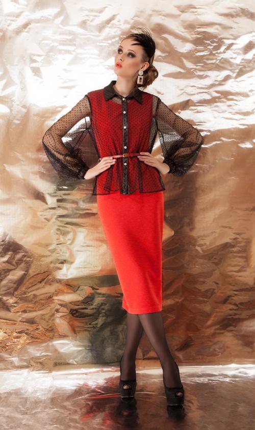 Платье с блузой ДИВА-1092 от DressyShop