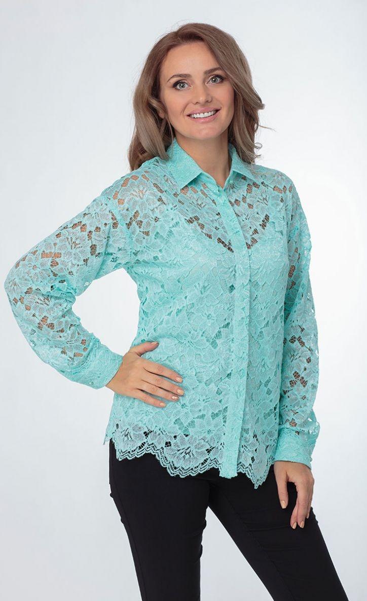 Блуза из ажурного кружева с топом
