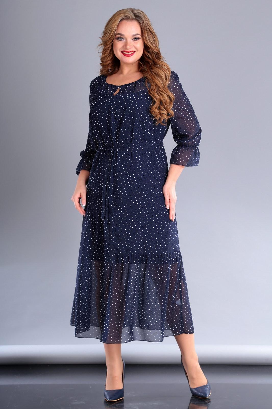 Платье А-силуэта из шифона