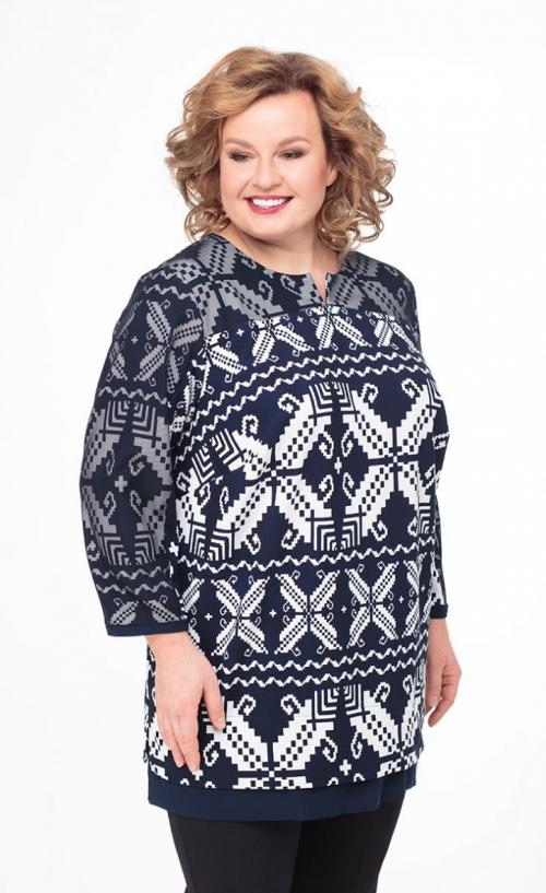 Блузка АНЛ-4360орнам от DressyShop