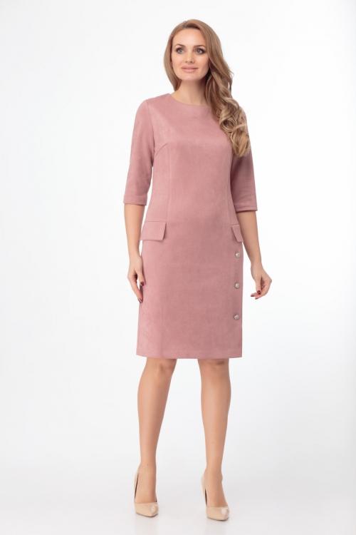 Платье АНЛ-488замша от DressyShop