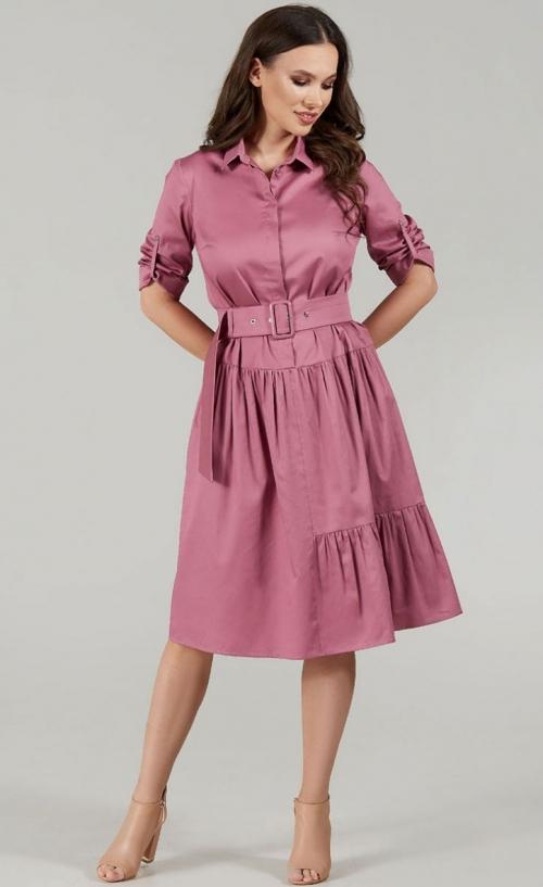 Платье ТФ-1487однотон от DressyShop