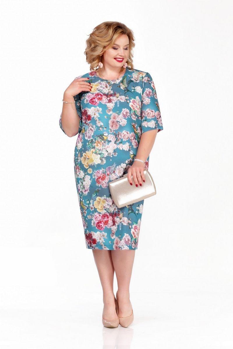 Приталенное платье-футляр с цветочным рисунком на подкладке  с рукавом средней длины