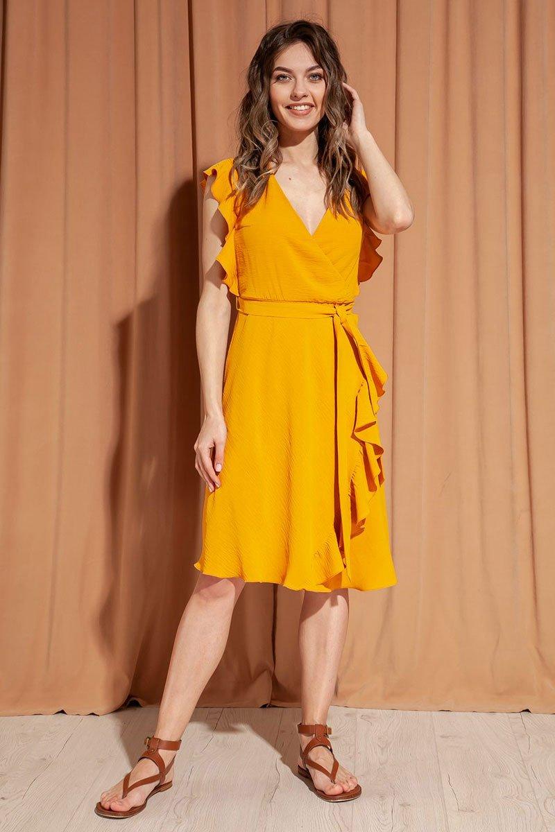 Романтичное платье из струящейся ткани