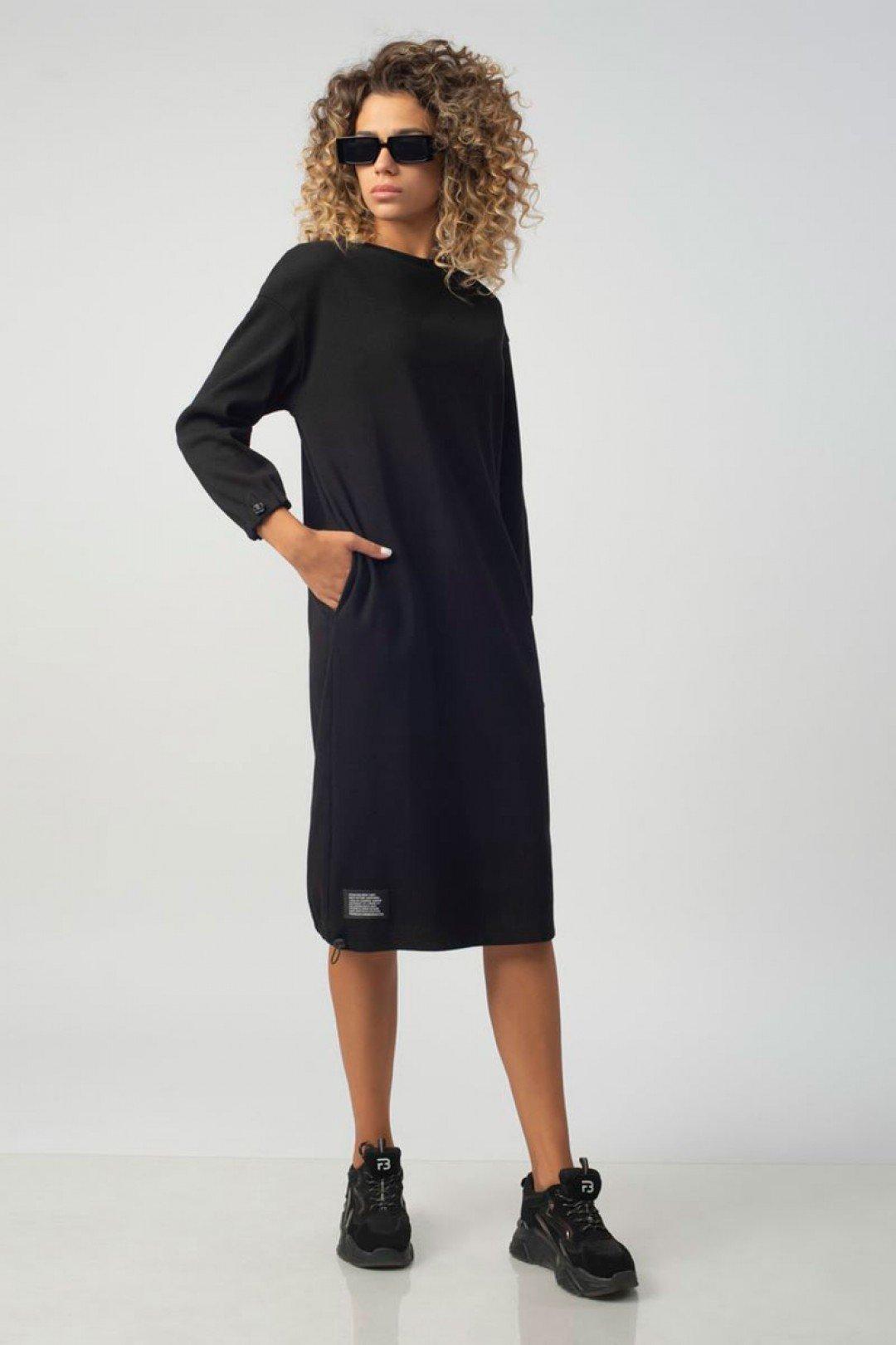 Трикотажное хлопковое женское комфортное платье