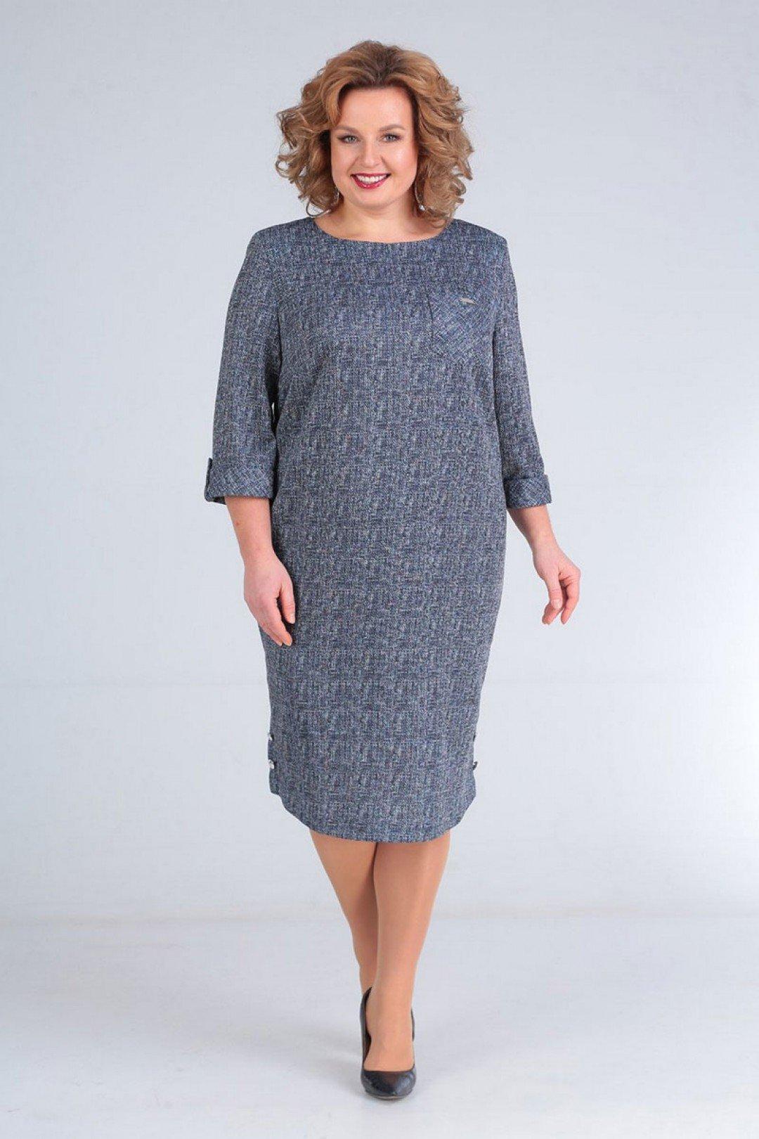Платье женское приталенное  большого размера